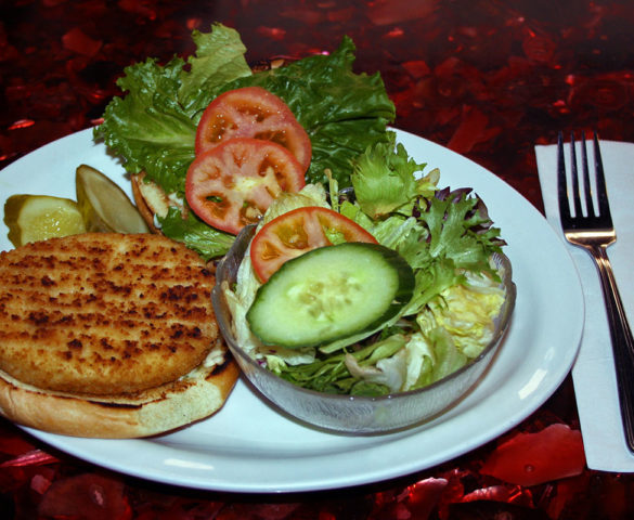 Colander Restaurant Halibut Burger